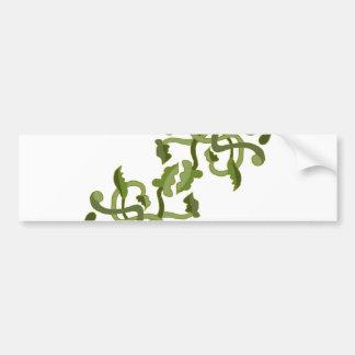 Mundo natural de la naturaleza del verde verde pegatina para auto
