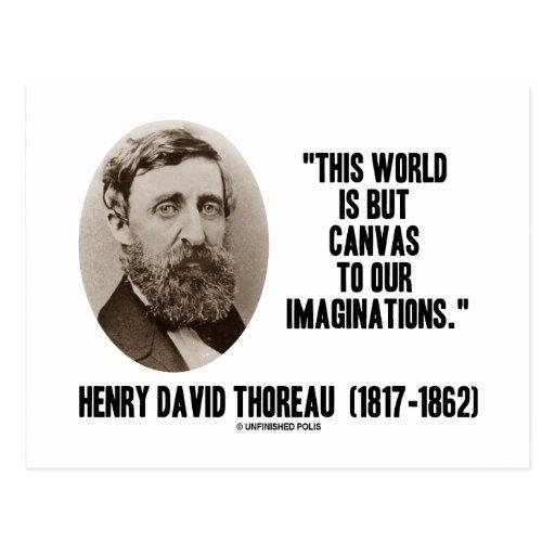 Mundo pero lona de Thoreau a nuestras Postal