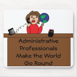 Mundo profesional administrativo Mousepad Alfombrilla De Ratón