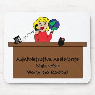 Mundo profesional administrativo Mousepad Alfombrillas De Ratón