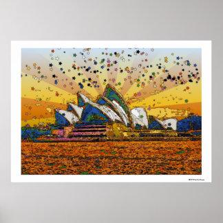 Mundo psicodélico: Horizonte A1 de Sydney Poster