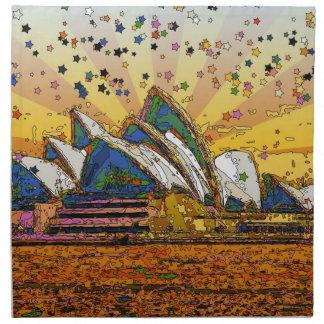 Mundo psicodélico: Horizonte A1 de Sydney Servilleta Imprimida