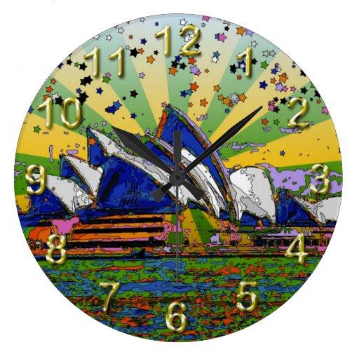 Mundo psicodélico: Horizonte A2 de Sydney Australi Reloj