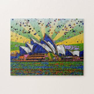 Mundo psicodélico: Horizonte A2 de Sydney Rompecabezas