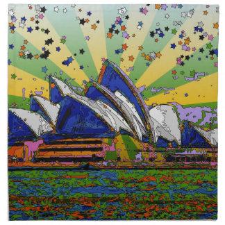 Mundo psicodélico: Horizonte A2 de Sydney Servilletas Imprimidas