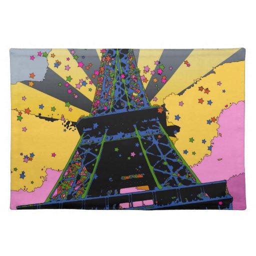Mundo psicodélico: Torre Eiffel, París Francia A1 Mantel