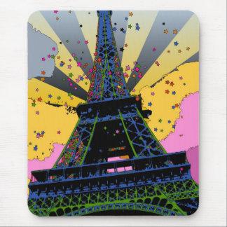 Mundo psicodélico: Torre Eiffel, París Francia A1 Mousepads