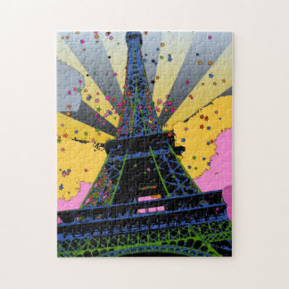Mundo psicodélico: Torre Eiffel París Francia A1 Rompecabezas Con Fotos