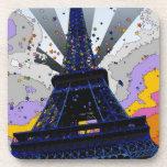 Mundo psicodélico: Torre Eiffel París Francia A2 Posavaso