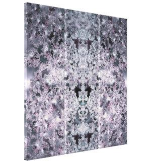 Mundo púrpura impresión de lienzo