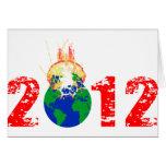 Mundo que estalla en 2012 tarjeta