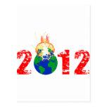 Mundo que estalla en 2012 tarjetas postales