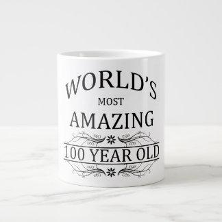 Mundo que sorprende 100 años taza grande