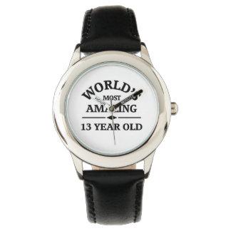 Mundo que sorprende 13 años reloj de mano