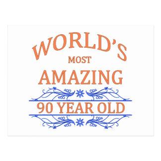 Mundo que sorprende 90 años tarjetas postales