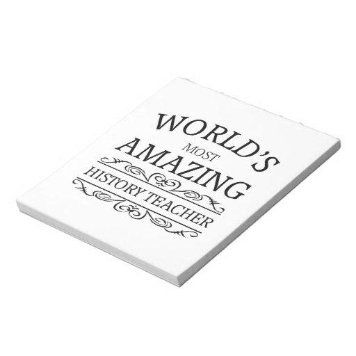 Mundo \ s la mayoría del profesor asombroso de la  bloc de notas
