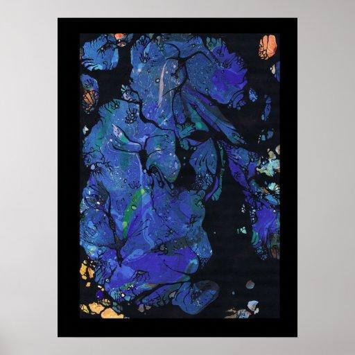 Mundo subacuático de la ninfa posters