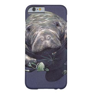 Mundo subacuático del Manatee Funda De iPhone 6 Barely There