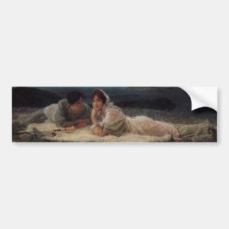 Mundo sus los propios de sir Lawrernce Alma-Tadema Pegatina Para Auto