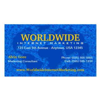 Mundo/tarjeta de visita global tarjetas de visita