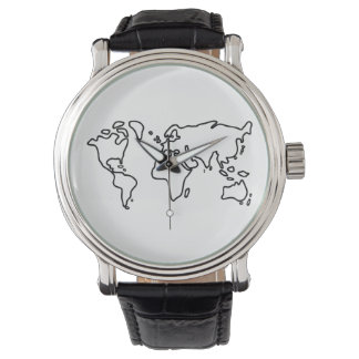 Mundo tierra mapamundi continente reloj