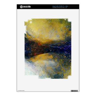Mundos abstractos del extranjero de la ciencia iPad 2 calcomanía