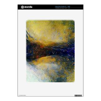Mundos abstractos del extranjero de la ciencia iPad calcomanía