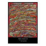 Mundos abstractos tarjeta postal