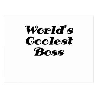 Mundos Boss más fresco Postal