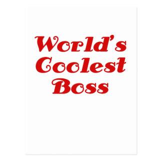 Mundos Boss más fresco Postales