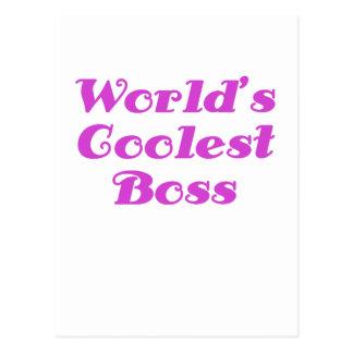 Mundos Boss más fresco Tarjetas Postales