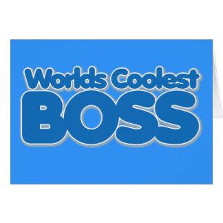 Mundos Boss más fresco Tarjeton
