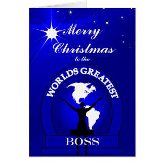 Mundos Boss más grande del navidad que saluda Tarjeta De Felicitación