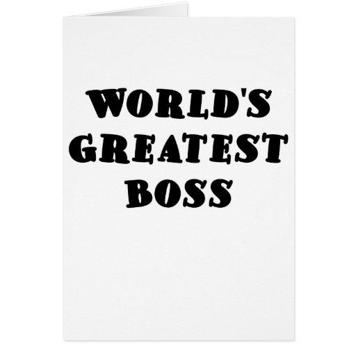 Mundos Boss más grande Tarjeta De Felicitación