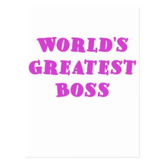 Mundos Boss más grande Tarjetas Postales