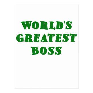 Mundos Boss más grande Postal