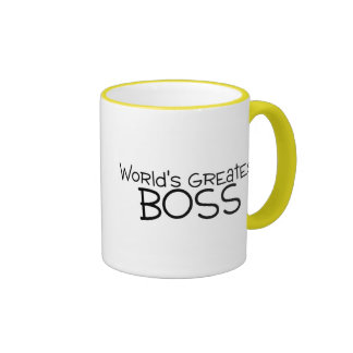 Mundos Boss más grande Taza De Dos Colores