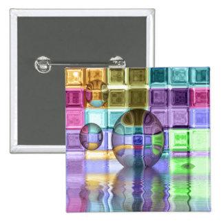 Mundos de cristal coloridos de la teja pin