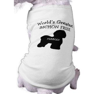 Mundos de encargo el Bichon más grande Frise Camisa De Perrito