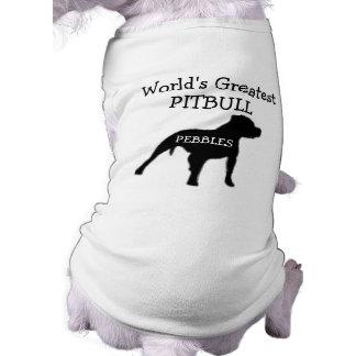 Mundos de encargo el Pitbull más grande Playera Sin Mangas Para Perro