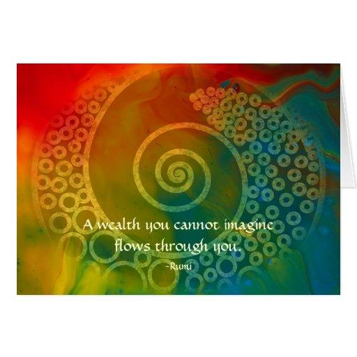 Mundos de la maravilla Rumi y del arte poético Felicitaciones
