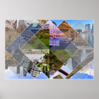 Mundos de Melbourne la mayoría del Photomontage de Póster