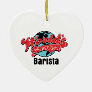 Mundos el Barista más grande Ornaments Para Arbol De Navidad