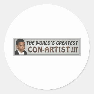 mundos el con-man.pdf más grande pegatina redonda