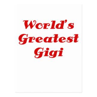 Mundos el Gigi más grande Tarjetas Postales