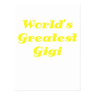 Mundos el Gigi más grande Postales