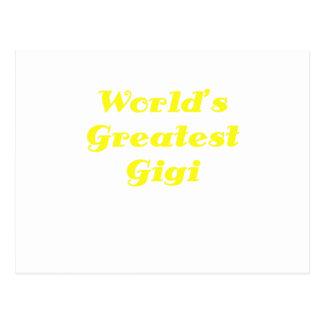 Mundos el Gigi más grande Postal
