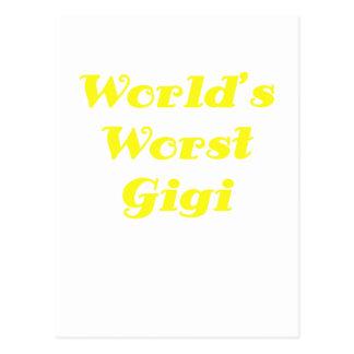 Mundos el Gigi peor Tarjetas Postales