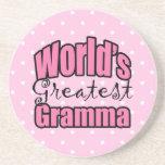 Mundos el Gramma más grande Posavasos Personalizados