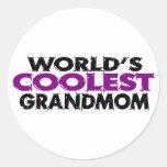 Mundos el Grandmom más fresco Pegatina Redonda